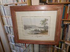 Lithographie Lac d'Aiguebelette; Eugène Ciceri - Félix Benoist