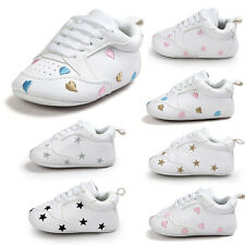 Toddler Newborn Kid Baby Boy Girl Soft Sole Shoes Leather Sneakers Pram Trainers