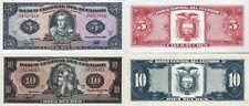 ECUADOR - Lotto 2 banconote 5/10 Sucres 1988 FDS - UNC