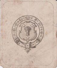 Ex-libris Charles PERIN (1819-1882), magistrat, maire de Soissons (Aisne).