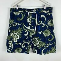 Reef Break Mens Board Shorts 2XL W38-40 Blue Floral Drawstring