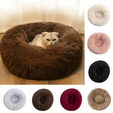 Super Soft Plush Dog Bed Cat Mat House Round Cushion Pet Supply Fall Winter Warm