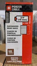 "Porter Cable PBN18075  3/4"" 18 GA Brad Nails. 5,000 quantity"