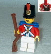 PIRATES #03 Lego Imperial Red Coat Soldier w/Shako & Musket NEW Authentic Lego