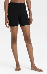 Colsie Bike Shorts Womens Small Black Seamless Ribbed Lounge Athletic Stretch S