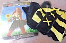 NEW sz s m nwt BUMBLE BEE STINGER BEE HALLOWEEN COSTUME adult small jr