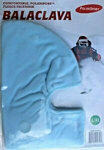 Multi-Use Unisex Adult BALACLAVA Facemask Hood Clava Mask BLUE Fleece L/XL