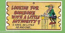 #D256. 1982 SCANLENS WACKY PLAK #75  LOOKING  FOR AUTHORITY