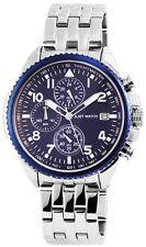 Just Watches XL Herren Quarz Chronograph Modell JW9616BL Edelstahl 5ATM