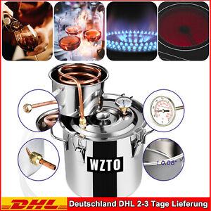 2 Töpfe 3 GAL Alkohol Destillieranlage Wein Distiller 12L Edelstahl Selbstbrauen