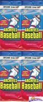 (4) 2018 Topps Archives Baseball EXCLUSIVE Jumbo Fat Factory Sealed Pack-72 Card