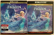 DISNEY FROZEN 4K ULTRA HD BLU RAY 2 DISC SET + SLIPCOVER SLEEVE FREE SHIPPING