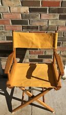 Vintage Telescope Folding Furniture Blue Goldenrod Yellow Directors Chair