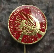1978 Harvest Festival Czechoslovakia Communist Farming Celebration Pin Badge
