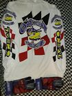 Vintage  nos O'neal Racing Jersey M & matching Gloves Motocross Mx Ama