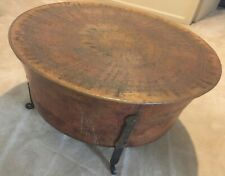 "Rustic Hammered and Etched Copper 32"" Round Coffee/Side Table"