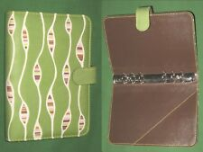 "COMPACT ~ 0.75"" ~ GREEN FABRIC Angela Adams Planner BINDER Franklin Covey RUGS"