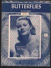 Butterflies 1953 Patti Page Sheet Music