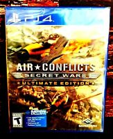 Air Conflicts: Secret Wars - Sony PlayStation 4 - PS4 - Brand NEW - Sealed