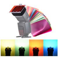 Photography Studio Flash Speedlite Strobe Lighting 30 Color Gel Filter Set C7U2
