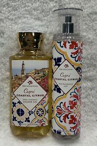2pc Bath & Body Works CAPRI COASTAL CITRUS Shower Gel & Fragrance Mist FREE SHIP