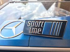 Orginal Mercedes Sportline GRILL Emblem Kühlergrill W124/ W201 190E azzurro Nos