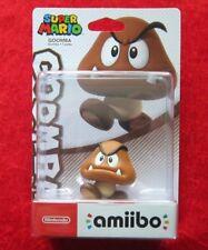 Goomba amiibo personaje, Super Mario Collection, nuevo-en su embalaje original