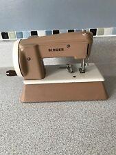 Vintage Singer Beige Toy Hand Crank Sewing Machine. EUC!