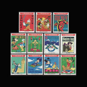 Maldives, Sc #1643-53, MNH, 1992, Disney Characters on World Tour, A5FGDD-B