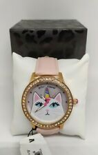 100% Authentic Betsey Johnson UNICORN KITTY Watch in Rose Gold Tone
