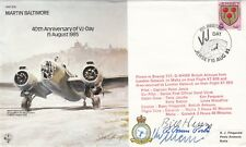 40th Anniv VJ - Day Signed W Henry & R Bruce Porter WW11 USA Fighter Aces