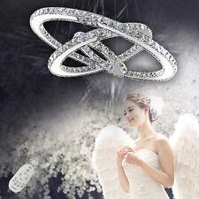 LED Kristall Dimmbar Hängeleuchte Deckenlampe Pendelleuchte Lüster Kronleuchter