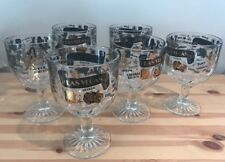 6 LasVegas Casino Strip Goblets Margarita Glasses Showgirls Caesars Palace Party