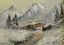 Luise Hönigl, München, 1937 Gemälde: STRASSE & BERGHOF IN DEN WINTERLICHEN ALPEN