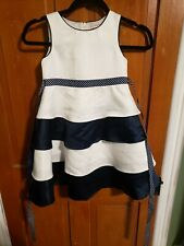Girls Size 6 Sugar Plum Dress Flower Girl / Bridesmaid / Formal navy and white