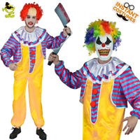 Adult Men Killer Clown Costume  Halloween Party  Jumpsuit Fancy Dress Cosplay