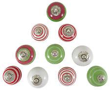 Mehrfarben Schranktür Schublade Keramik Küchenknöpfe Lot von 10 Stück