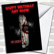 Scary The Grudge Birthday Customised Card