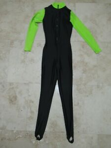 Henderson Aquatics Dive Skin Black neon adult unisex M USA Lycra Swim Surf Suit