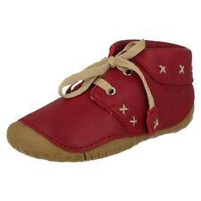 Scarpe stivali rossi con lacci per bambine dai 2 ai 16 anni
