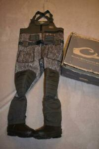 Drake MST Eqwader 2.0 3.5mm 800 Gram Insulated Chest Waders Mossy Oak Size 8 NIB