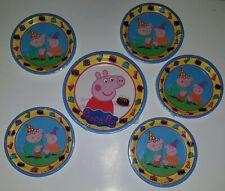 "NEW 6 Peppa Pig Paper Plates Lot Birthday Party Supplies (1) 8pk 9"", (5) 8pk 7"""