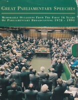 Great Parliamentary Speeches 1978 - 1991 2 Cassette Audio Book FASTPOST