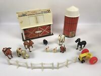 Vintage Fisher Price Little People Play Family Farm Barn Silo 915 DOOR MOOS 1967