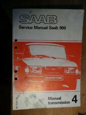 SAAB 900 Manual Transmission SERVICE MANUAL M 1979-82