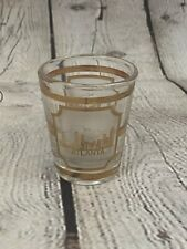 Culver Vintage Atlanta Gold Trim Collectible Shot Glass Shotglass Made In USA