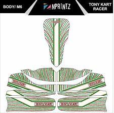 M6 TONYKART RACER 401 STYLE 2015 FULL KART STICKER KIT TO FIT M6 BODY - KARTING
