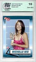 2004 Michelle Wie Rookie Review Glam Golf rookie card PGI 10
