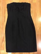 Linda Allard for Ellen Tracy Little Black Silk Dress Crepe 8 P 8p Petite Braided