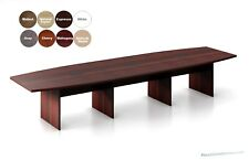 Conference Table And Chair Set 14 Ft Boat Shaped Table And 12 Modern Chairs